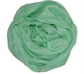 Ensfarvet tørklæde i let materiale. Køb lette tørklæde i turkis online webshop Smikka