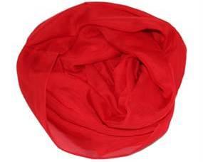 Bestil rødt tørklæde i chiffon
