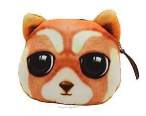 Lille pung designet som en vaskebjørn med store øjne