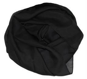 Sort tørklæde i let kvalitet til kun 85 kroner