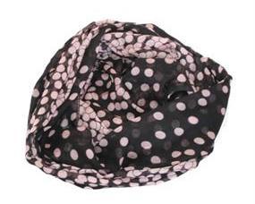 Sort tørklæde med rosa prikker billigt online