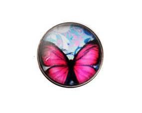 Smykke til armbånd med sommerfugl i lyserød