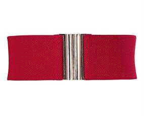 XL bælte i rød med elastik online Smikka