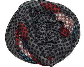 Tørklæde med mønster mix af prikker og aflange felter