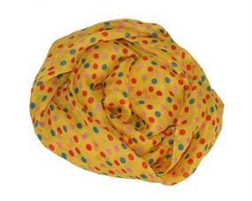 Prikket tørklæde i gul