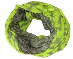 Neongult tubetørklæde med gråt islæt