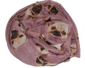 Lilla tørklæder med hundeansigt online hos Smikka webshoppen