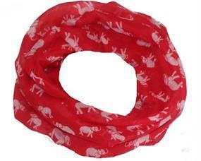 Tubetørklæde i rød med hvide elefanter som motiv