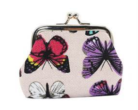 Lille punge med farvede sommerfugle