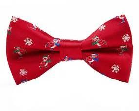 Julebutterfly i rød. Juleaccessories til mænd. Butterfly med juletema