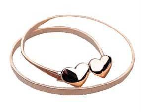 Hjerte elastikbælte i guld billigt online Smikka webshop