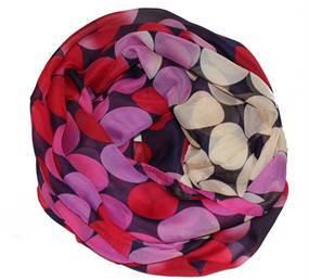 Tørklæde i let kvalitet med røde bolde og prikker