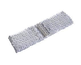 Sølv elastikbælte pailletter