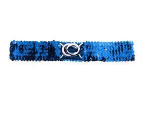Elastikbælte blå pailletter billig online