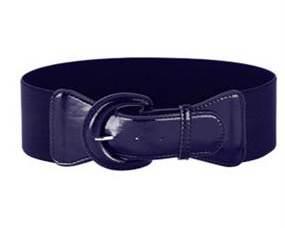 Ensfarvet mørkeblå elastikbælte i størrelse ekstra large