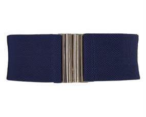 Ekstra large elastikbælte. Mørkeblå bælte størrelse Xl