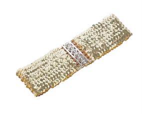 Elastikblte guld pailletter bredt design