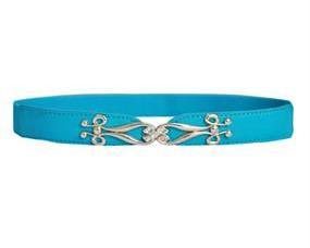 Lyseblåt elastikbælte i smalt design. Blå elastikbælter online webshop Smikka