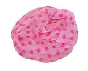 Lyserødt tørklæde med polkaprikker online Smikka