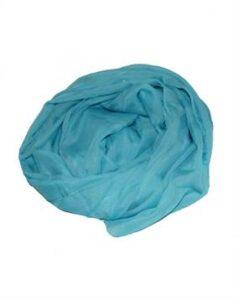 Lyseblåt tørklæde til kortøj