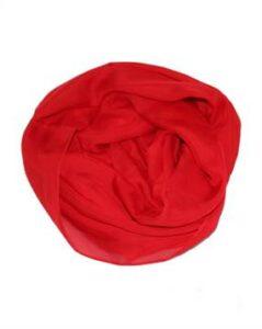 Tørklæde kor i rød til billig pris