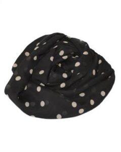 Kortørklæde i sort med lyse prikker